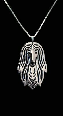 Silver English Setter Pendant Necklace Collectable Jewellery Gift with Chain