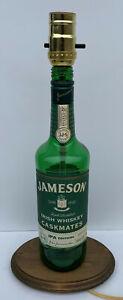 JAMESON IRISH WHISKEY Caskmates IPA Bottle TABLE LAMP Bar Light with Wood Base
