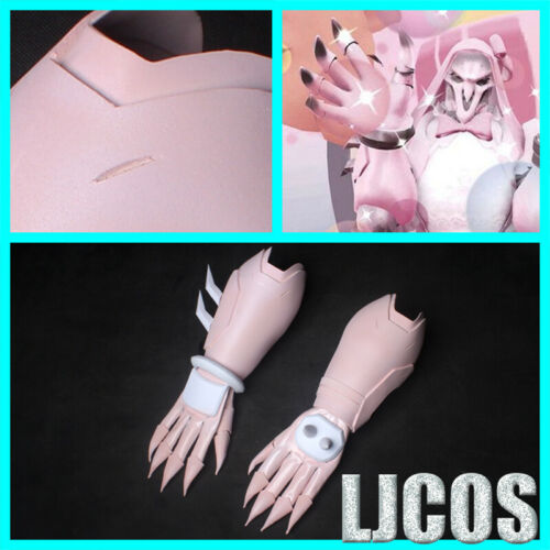 OW Overwatch Reaper Cosplay Props Reaper Pink Gloves+Hand Armor EVA+PU Guard