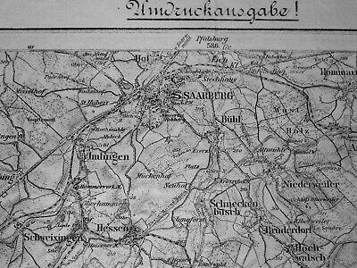 601 Saarburg, Karte Des Deutschen Reiches, 1:100.000, Gedruckt 1918