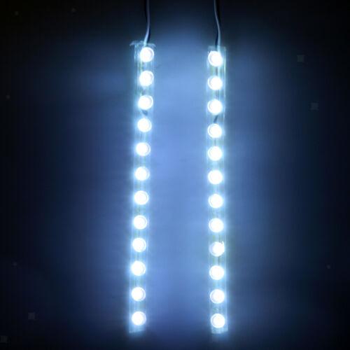 2pcs White LED Light Strip w// Switch for Roller Skate Skateboard Rollerblade