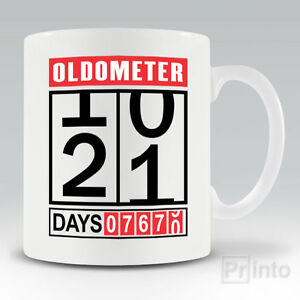 Image Is Loading Funny Coffee Mug Cup OLDOMETER 21st Birthday Gift