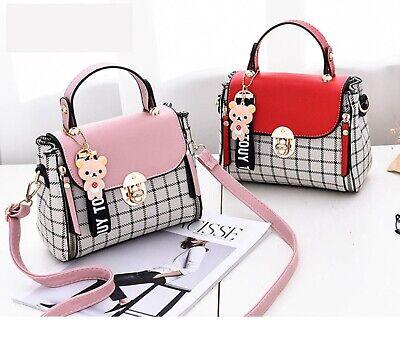 Cute Kawaii Harajuku Korean Plaid Shoulder Bag Purse Handbag Women Ebay