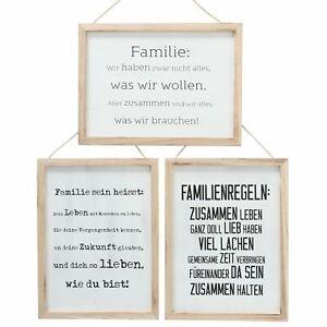 1-x-Schild-Familie-naturweiss-30-x-40-cm-Familienregeln-viel-Lachen-Spruch