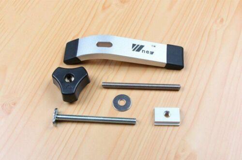 T track SLOT claveaux Jig Luminaire Woodworking Clamp vis Slider en alliage d/'aluminium