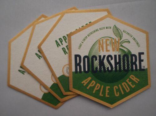 x 4 BEER MAT ROCKSHORE APPLE CIDER COASTER