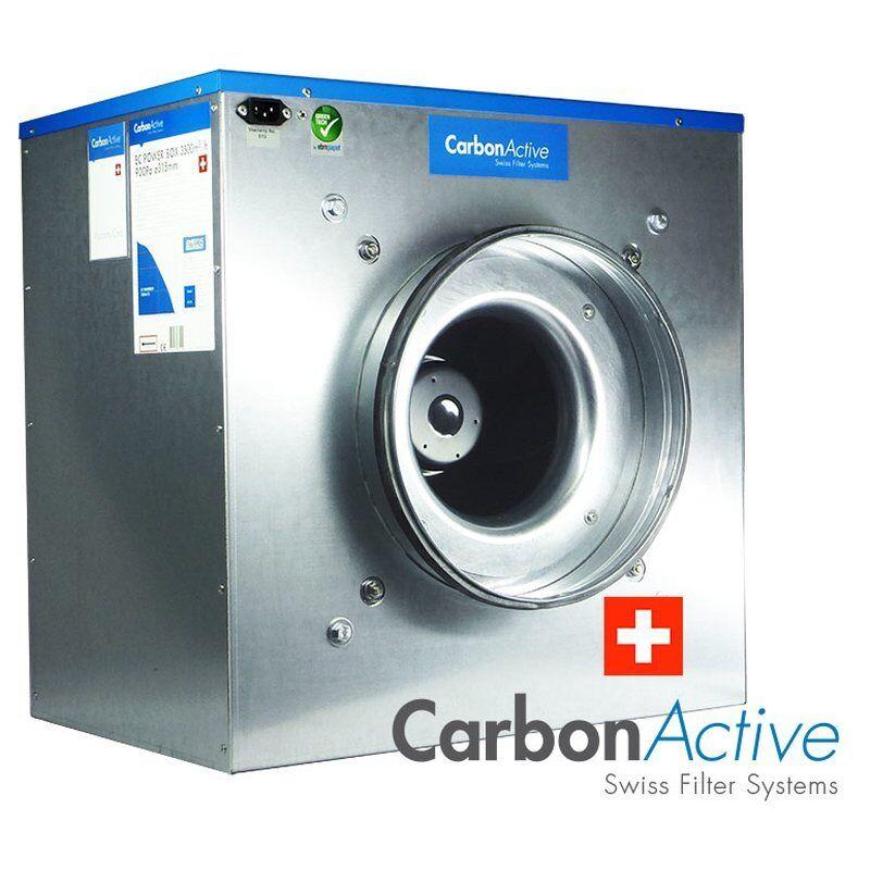 CarbonActive EC Silent Box 11000m³/h 500mm 1600 Pa 400V Grow Abluft Lüfter Kiste