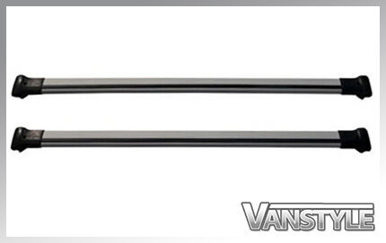 SWB SILVER ROOF BARS /& CROSS BAR SET ROOF RACK NO DRILL NEW RENAULT TRAFIC 2014