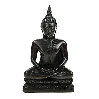 Meditating Black Thai Buddha 16cm Statue Ornament NEW
