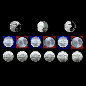 2012 P+D+S Jefferson Nickel /& Roosevelt Dime Set ~ Proofs /& PD in Mint Wrap