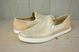 e324567759e Details about UGG ADLEY PERF STARDUST GOLD SLIP ON SHOES WOMENS US 11 NIB