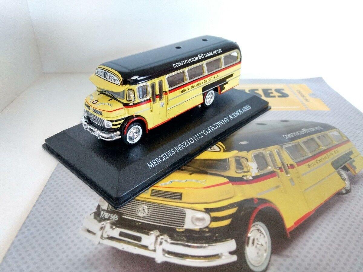 Mercedes Benz 1112 silverina Bus Linea 60 Rare Diecast Scale 1 72 New W Magazine