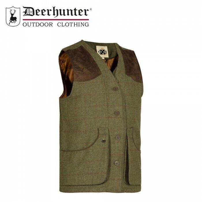 Deerhunter Moorland Chaleco Chaleco Tweed hierba seca