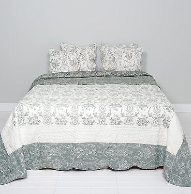 Sinnvoll Clayre & Eef Tagesdecke Quilt Plaid Shabby Chic Landhausstil Grau/weiß 180x260cm Eine GroßE Auswahl An Farben Und Designs Möbel & Wohnen