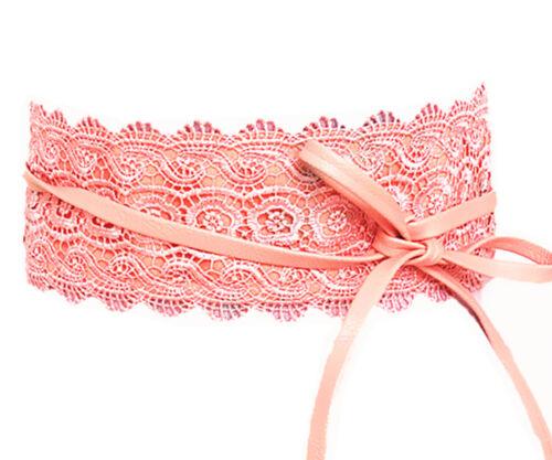 Damen Gürtel Spitze FlamingoTaillengürtel Wickelgürtel Bindegürtel SA-46