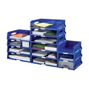 Image Is Loading Leitz Jumbo Stackable Letter File Trays Black Or