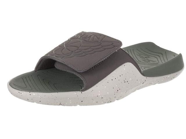 3f6db4b81a05 Nike Jordan Hydro 7 Velcro Slides Aa2517 035 Sz 11 Grey Clay Green ...