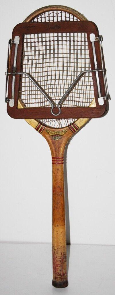 Vintage Dunlop Maxply Tenis Raqueta Con Prensa c1940's - Envío Gratis [PL1673]