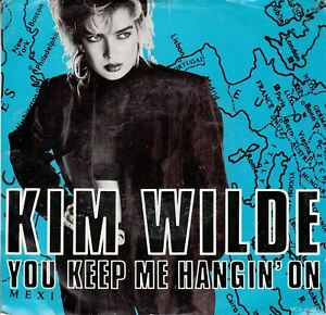 Kim-Wilde-You-Keep-Me-Hangin-039-On-b-w-Loving-You-PS-45-rpm-Record