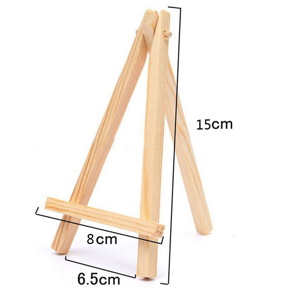 Mini Wooden Cafe Table Number Easel Wedding Place Name Card Holder Stand JH