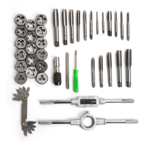 Metric Tap and Die Set Thread Renewing Tapping Threading Chasing tools 40pc