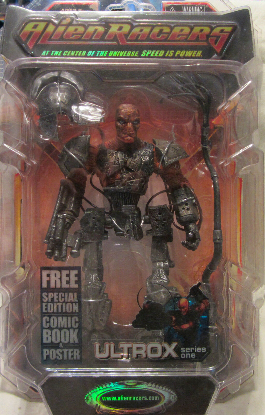 Alien Racers ULTROX Action Figure Series One w Comic Book & Poster NEW