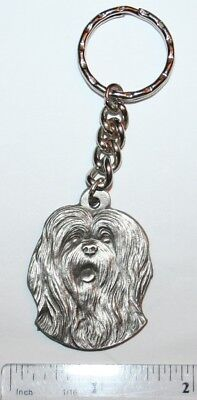 LHASA APSO DOG PEWTER KEY CHAIN RAWCLIFFE COMPANY