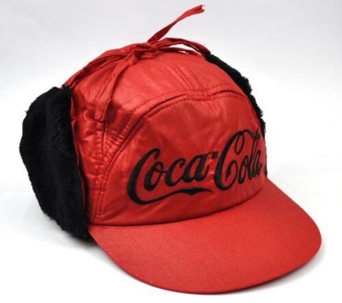 COCA-cola coke Trapper BERRETTO CAPPELLO CAPPUCCIO caldo VISIERA Scaldaorecchie CAP ROSSO