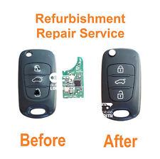 Refurbishment repair service for Hyundai 3 button flip key Accent i20 i30 Verna