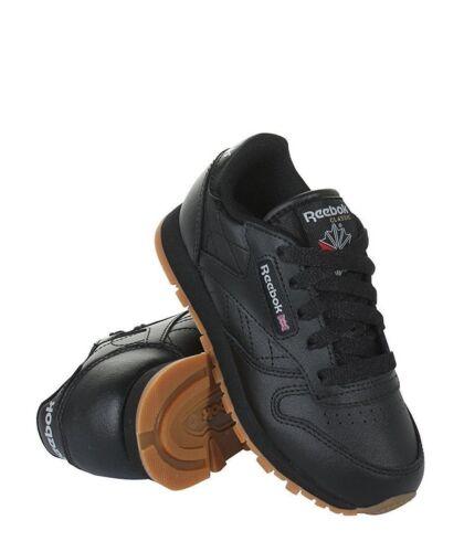 REEBOK Preschool Classic Leather Kids Black//Gum V69621