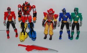 Power-Rangers-Samurai-Lot-Megazord-Mooger-Red-Blue-Green