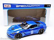 Maisto 2014 Chevy Corvette Stingray Z51 Blue 1/18 Diecast Cars 31677BL