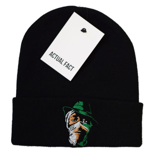 Actual Fact Mos Def Scarf Beanie Winter Hip Hop Roll Up Black Wooly Hat