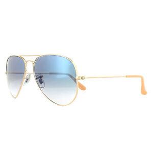 64dd9680e61 Details about Ray-Ban Sunglasses Aviator 3025 001 3F Gold Blue Medium 58mm