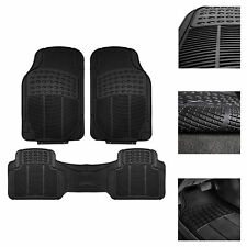 Car Floor Mats, All Weather Rubber Tactical Fit Heavy Duty Black - 4 Pc Set