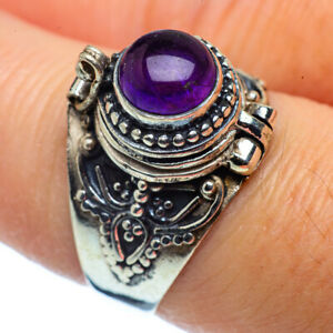 Amethyst-925-Sterling-Silver-Poison-Ring-Size-8-Ana-Co-Jewelry-R37053F