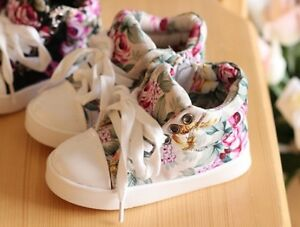 NEW Fashion Baby Flowery Pattern Casual Sneakers Girls Cute Birthday Gift Shoes