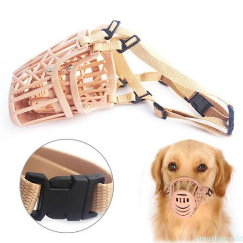Pet Mouth Covers Mask Dog Muzzle Anti-bite Mask Mesh Adjustable Plastic Basket G