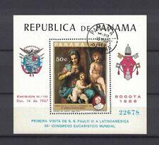 Panama 1969 Minr Bl 106 used / O Sartos Papst Paul VIpaintings Gemälde