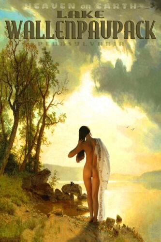 Lake Wallenpaupack Pennsylvania Retro Travel Poster Pin Up Art Print 161