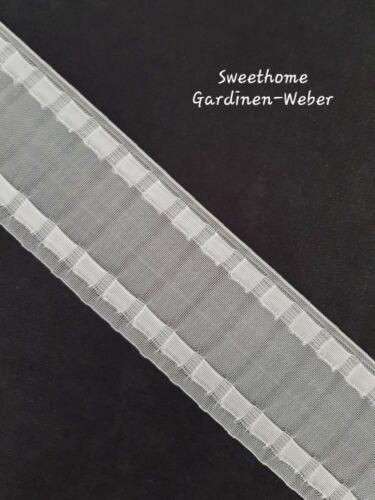 100 m 75 mm transparent Newave ROLLE Wellenband NEUHEIT Gardinenband  Br