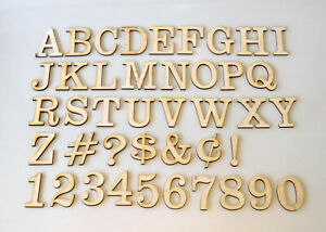"1/"" Tall 47-Piece Set Universal Condensed Font Wood Layout Letters /& Numbers"