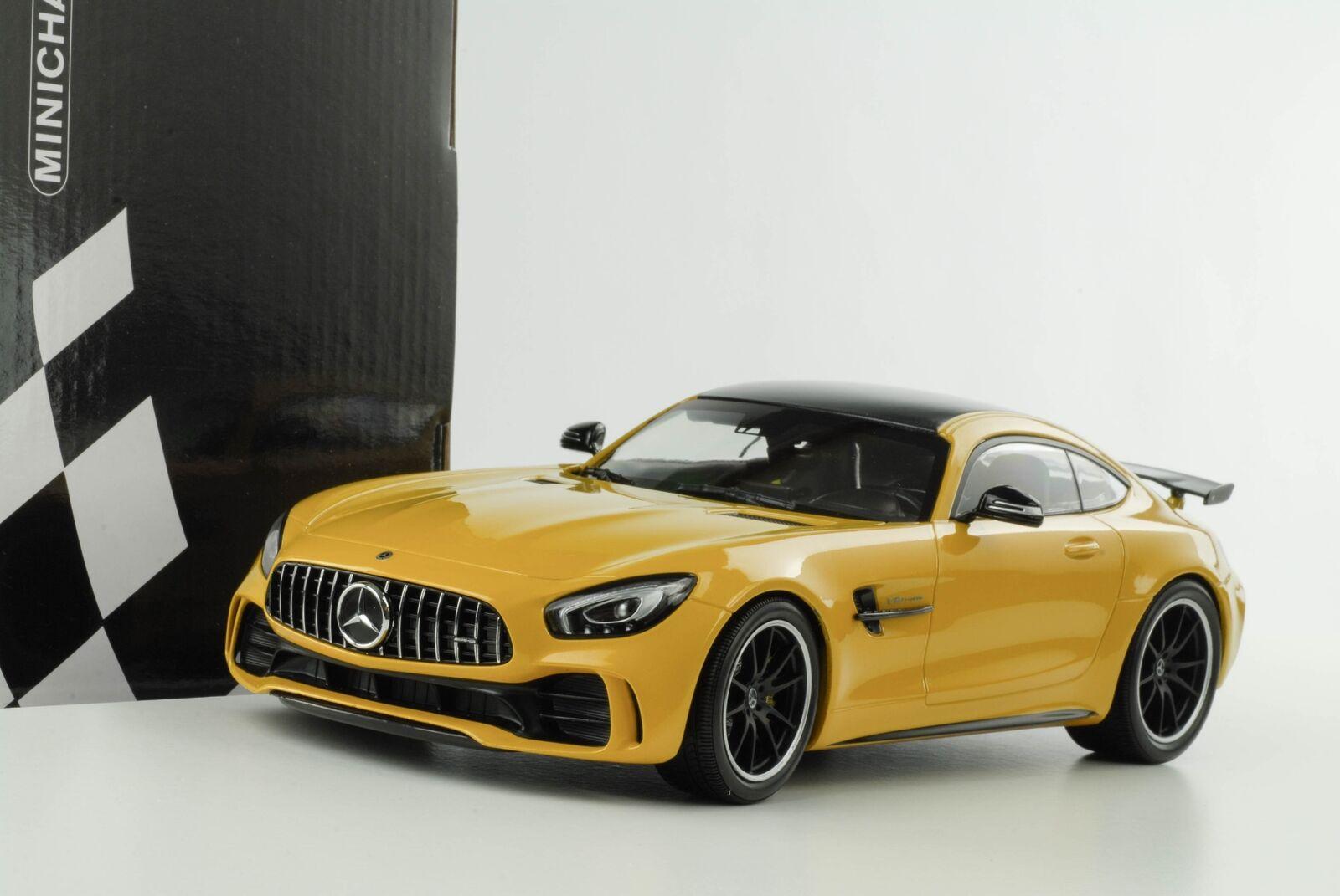 1 18 Mercedes-Benz AMG GT-R v8 BI TURBO 2017 GIALLO METALLIZZATO DIECAST MINICHAMPS