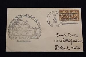 Navale-Cover-1933-SHIP-039-S-Annullo-Postale-Welcome-To-il-Pacific-U-S-F
