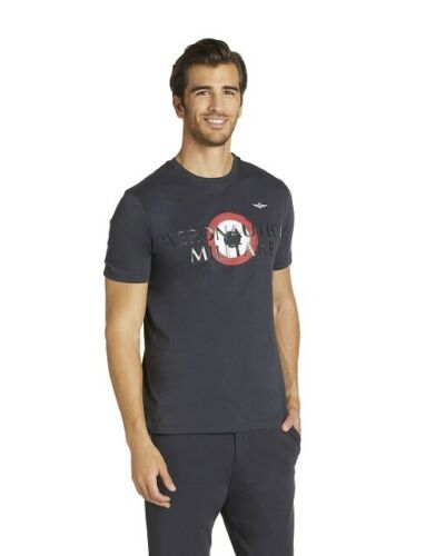 Aeronautica Militare Men/'s TS1710J452 Tricolour Arrows T-Shirt Blue/' Logo