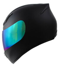 New DOT Motorcycle Helmet Full Face Duke Legacy Matte Black  S M L XL XXL