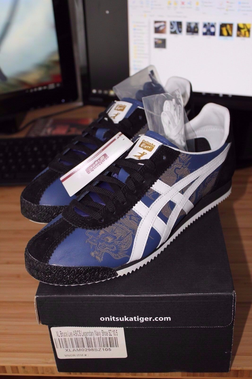 Bruce Lee Onitsuka Tiger Corsair - Jeet Kune Do Blue Sneakers, Ltd to ONLY 100! Cheap and beautiful fashion