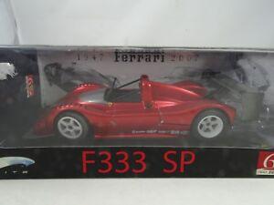 01h18 Mattel Elite # l2975 Ferrari F333 Sp Redmetallic -