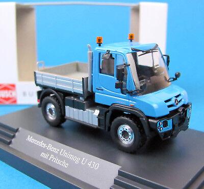 H0 Mercedes-Benz Unimog U430 Busch 50916-1//87 Neu Weiss