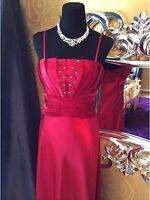 Abendkleid Ballkleid Hochzeitskleid In Rot, Gr. 34/36